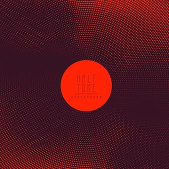 抽象的な明るい赤のハーフトーンの背景