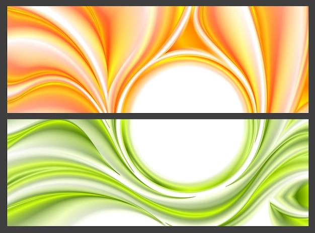 Абстрактный яркий образец гладких волн. векторный дизайн баннеров