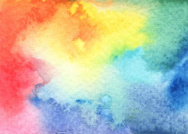 さまざまな色合い、色合い、テクスチャの抽象的な明るい水彩画の背景。