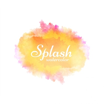 Abstract bright watercolor splash design