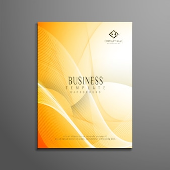 Abstract bright wavy business brochure design