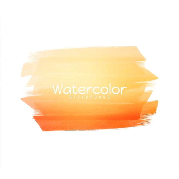 Abstract bright yellow watercolor design