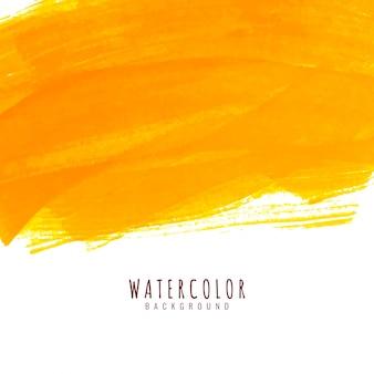 Fondo elegante dell'acquerello giallo luminoso astratto