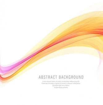 Abstract brigth business wave background