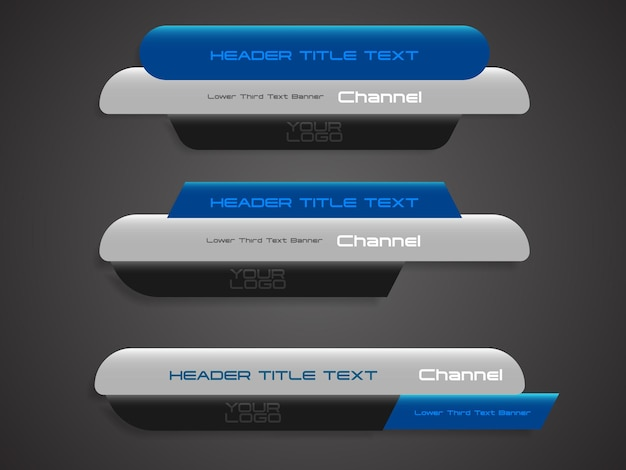 Abstract broadcast news lower thirds futuristic template vector illustration for media video