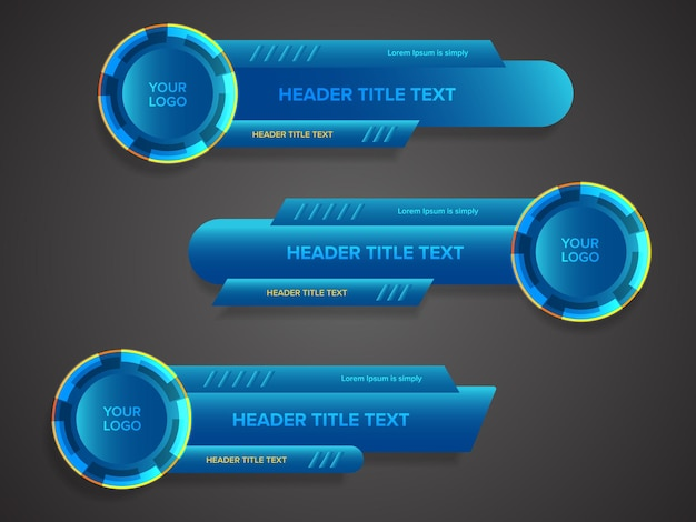Abstract broadcast news lower thirds template vector illustration for media video