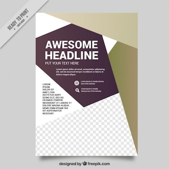 Abstract brochure for business
