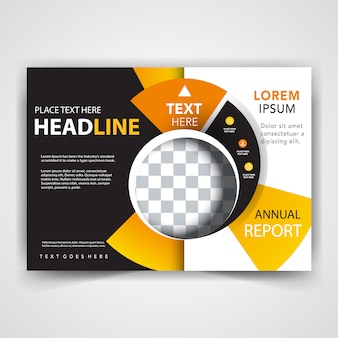 Abstract brochure front cover