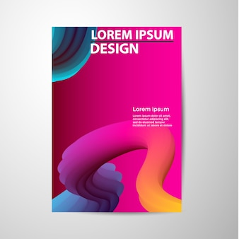 Abstract brochure gradients waves background.