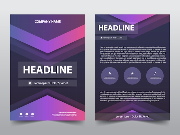 Abstract brochure poster