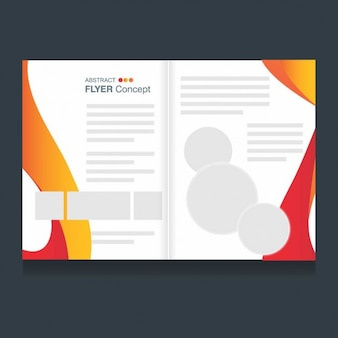 Abstract brochure tempalte in modern style