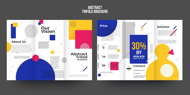Abstract brochure template concept