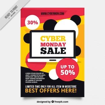 Modello astratto brochure di cyber monday offerte
