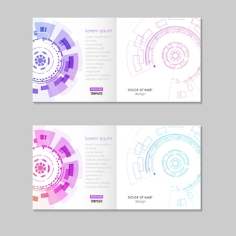 Abstract brochure template with technology round
