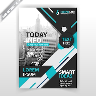 Abstract brochure vertical template