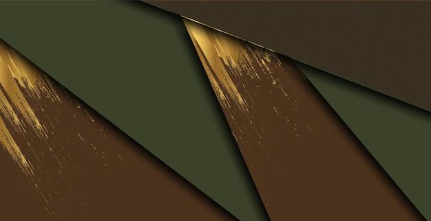 현대 기하학적 스타일과 추상 갈색 배경