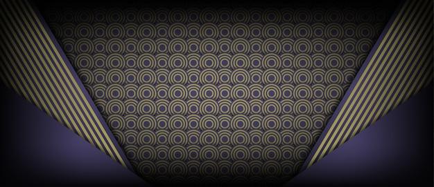 抽象的な茶色の円の幾何学的デザインの背景