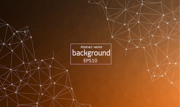 Abstract brown geometric polygonal background