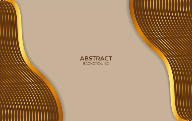 Abstract brown and gold design