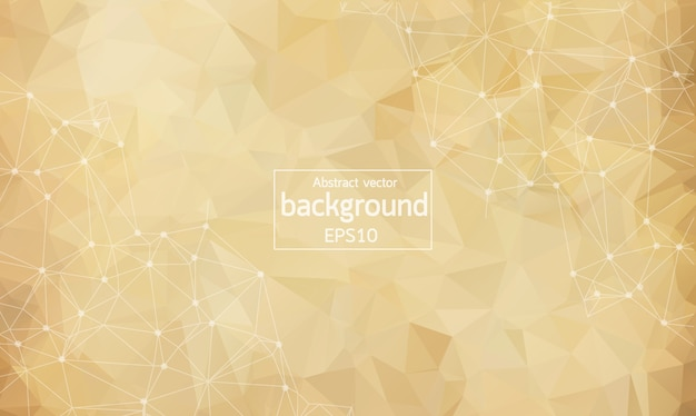 Abstract brown light geometric polygonal background