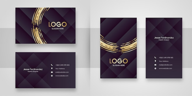 Abstract browns luxury business card template