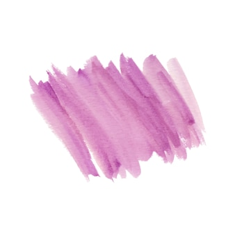 Forma astratta del pennello in acquerello rosa
