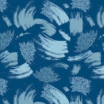 Abstract brush stroke blue paint pattern