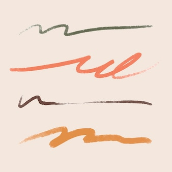 Abstract brush stroke element vector
