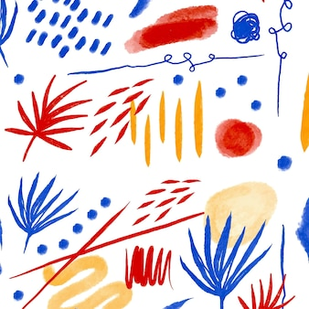 Abstract brush stroke pattern