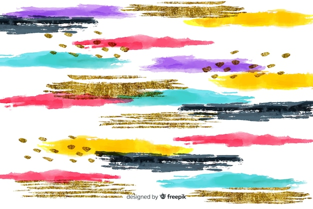 Abstract brush strokes background
