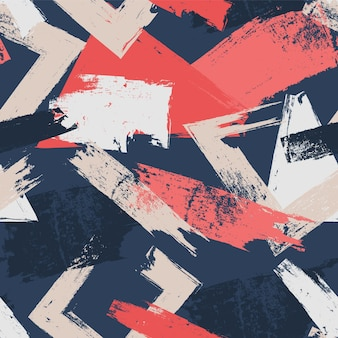 異なる色のパターンで抽象的なブラシストローク
