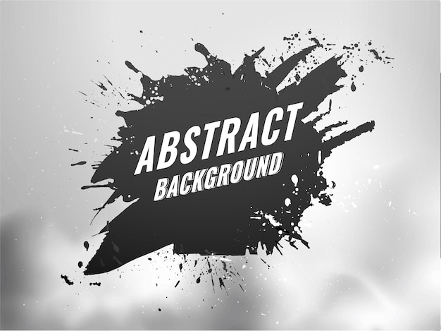 黒と灰色の抽象的なブラシテクスチャ背景。