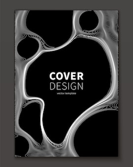 Abstract bubble fluid cover template