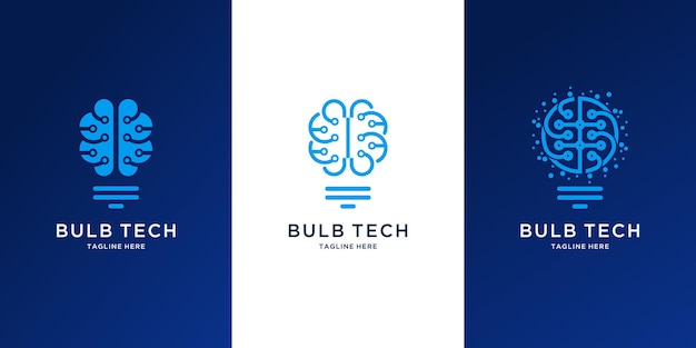 Abstract bulb technology logo design