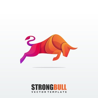 Abstract bull colorful premium vector template