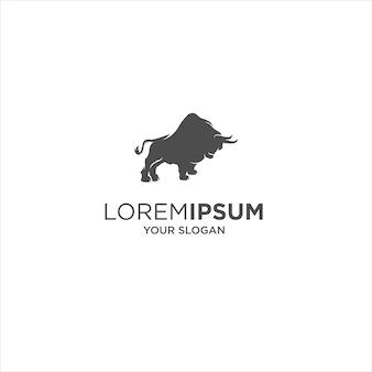 Абстрактный бык силуэт логотип