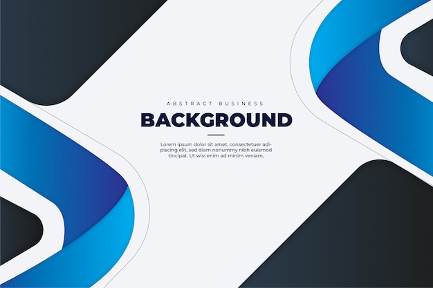 Abstract business background with blue shapes template