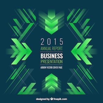 緑の形状の抽象的なビジネスの背景