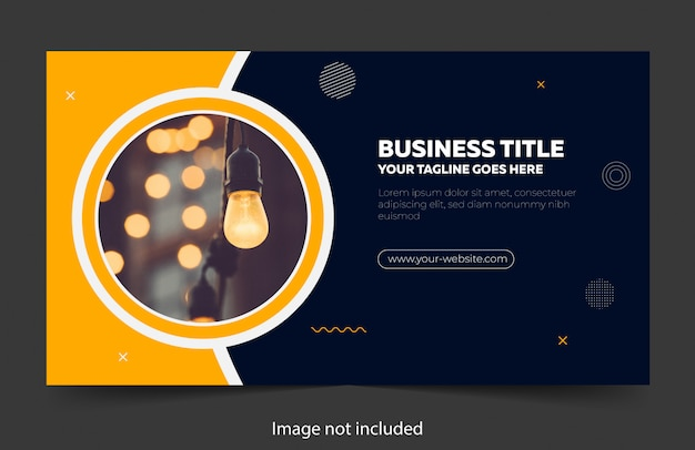 Abstract business banner design template