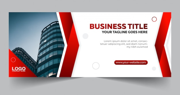 Abstract business banner template design