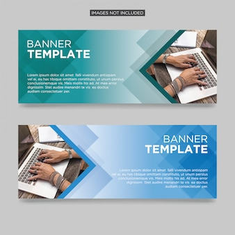 Abstract business banner template premium vector