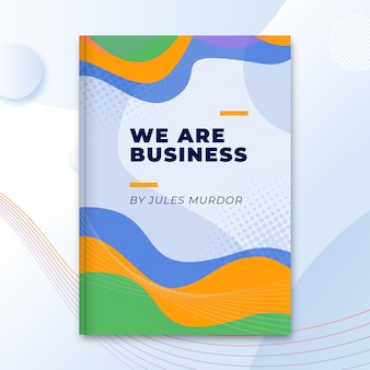 Abstract business book cover template