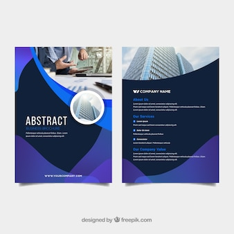 Abstract business brochure in a5 size