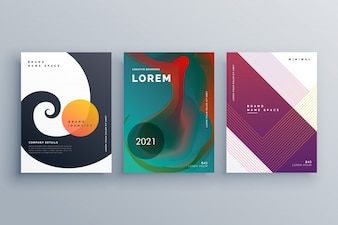 Abstract business brochure design set in creative style