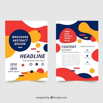 Абстрактная бизнес-брошюра размером a5