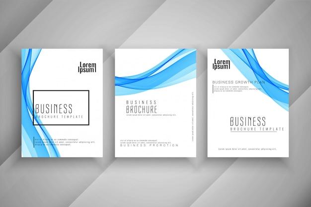 Abstract business brochure modern template set
