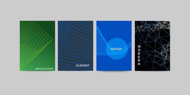 抽象的なビジネスパンフレットセットデザイン
