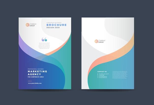 Abstract business brochure template Premium Vector