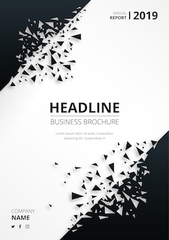 Abstract business brochure with broken shapes