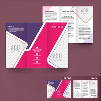 色の異なる抽象ビジネスパンフレット